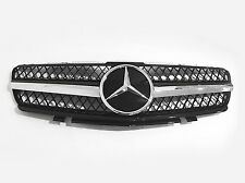 Mesh Front Hood Sport Black Grill Grille For Mercedes Benz R230 SL 06-08