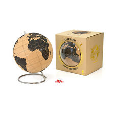 SuckUK Cork Globe World Map Steel Base Modern Office Desk Decor Memo Note Holder