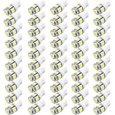 50Pcs 501 T10 W5W Capless 5-SMD 6000K Xenon White LED Side Lights Interior Bulbs