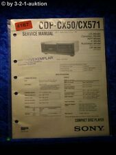 Sony Service Manual CDP CX50 /CX571 CD Player (#4167)