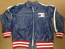 Nolan Ryan MLB Baseball Rain Jacket Windbreaker Coat M Red Blue Thrift Hunters