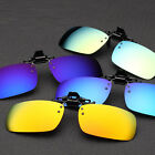 Flip up Clip-on Mirror Sunglasses Lens UV400 Driving Fishing Glasses Eyewear