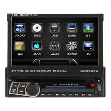 "7"" HD Single DIN Car MP3 MP4 DVD Player Radio Estéreo Head Unit GPS Navigation"