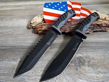 2 x Jagdmesser Messer Knife Bowie Buschmesser Coltello Cuchillo Couteau Hunting