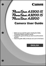 Canon Powershot A2200 A3200 IS, A3300 IS Digital Camera User Guide Manual