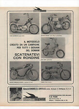 Pubblicità 1970 MOTO CICLO RONDINE MOTOR CROSS old advertising werbung publicitè