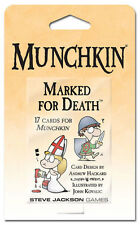 Munchkin Marked For Death Booster Card Game Adds 15 Cards Steve Jackson SJG 4210