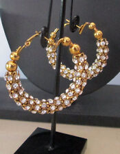 Indian Fashion Jewelery Bollywood Jhumka Bali Hoop Danglers CZ Earrings Sets
