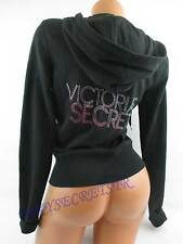 Victoria's Secret HOODIE SUPERMODEL ESSENTIALS Black Rhinestones XSMALL NWT