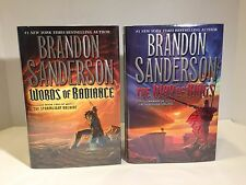 SIGNED Not Remaindered Way of Kings Words of Radiance 1st/1st  Brandon Sanderson
