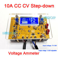 10A DC Buck Converter CC CV Step-down Power Supply 12v 5v 24v 19v+ LCD volt amp