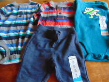 13) Lot of 4 pieces Size 6 Months Cute Baby Boy Clothing Jumping Beans OshKosh