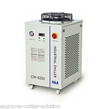 220V CW-6200AI Water Chiller for Dual 200W CO2 Glass Laser Tubes/Weld Equipment