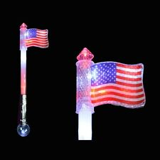 The Ultimate Flashing Light Up American Flag Wand