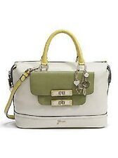 GUESS Siggi Large Box Handbag SATCHEL Bag - WHITE - GREEN