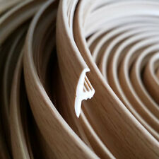 20 METERS BEECH WOOD-GRAIN SINGLE LIPPED T-TRIM EDGING FOR 15MM FURNITURE BOARDS