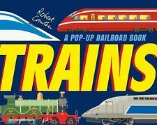 Trains : A Pop-Up Railroad Book by Robert Crowther (2016, Hardcover)