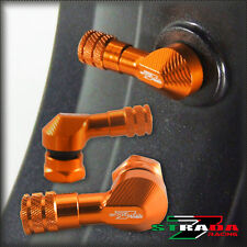 "Strada 7 83 Degree 8.3mm 0.357"" inch Valve Stems Aprilia DORSODURO 750 Orange"