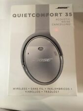 *NEW SEALED Silver Bose QuietComfort 35 QC35 Wireless Bluetooth Headphones Black