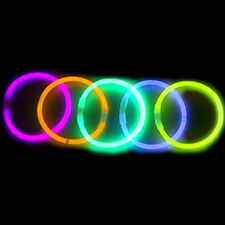 "1000 Premium 8"" Glow Sticks Bracelets Neon Colors Party Favors"