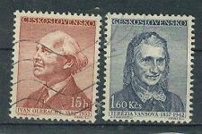 Tschechoslowakei Briefmarken 1957 Schriftsteller Mi.Nr.998+1001