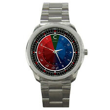 Circle of Fifths Musician Music Colorful Sports Metal Watch