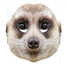Suricates animal carte unique 2D parti masque zoo safari jungle