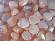 10 x ROSE QUARTZ CRYSTAL TUMBLESTONES POLISHED STONES SOUTH AFRICA 16mm - 20mm