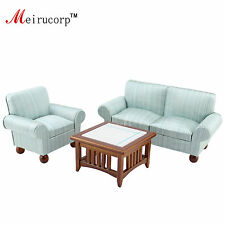 1/12 scale dollhouse miniature Tasteful Living room furniture set Sofa Teable