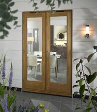 OAK FRENCH DOORS RIO - 5ft 1500mm 54mm - 1.5 U Value - SUPPLIED UNFINISHED