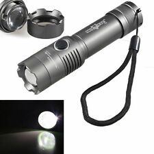 Skywolfeye Tactical CREE T6 6000LM LED Rechargeable Flashlight Torch Zoom Lamp