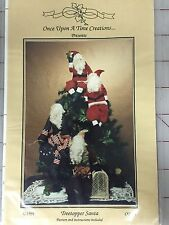 Once Upon A Time Creations Treetopper Santa Christmas Sewing Pattern New, Uncut
