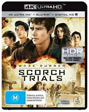 The Maze Runner - Scorch Trials 4K Blu-Ray + UHD + UV : NEW 4K Ultra HD
