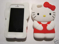 Red Large HELLO KITTY iPhone 5 5s - Silicone Gel Rubber Designer Full Case