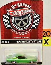 HOT WHEELS 9TH ANNUAL CONVENTION NATIONALS 2009 '69 CHEVELLE SS 396 #4/4 GREEN
