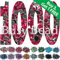 Busy Bead 1000 x Crystal Flat Back Acrylic Rhinestone Diamante Gems 2mm to 6mm