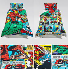 Marvel Avengers Superheroes Duvet Cover Bedding Set Single by Mark & Spencer