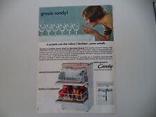 advertising Pubblicità 1969 LAVASTOVIGLIE CANDY