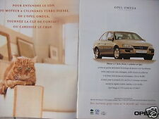 PUBLICITÉ 1996 OPEL OMEGA MOTEUR 2.5 TURBO IESEL 6 CYLINDRES - CHAT -ADVERTISING