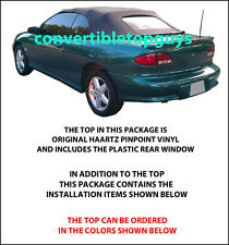 CHEVROLET CAVALIER & PONTIAC SUNFIRE CONVERTIBLE TOP-DO IT YOURSELF PKG 1995-98
