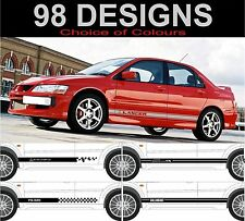 Mitsubishi lancer evolution mitsubishi evo 8 9 10 side stripe decals ralliart