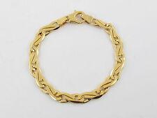 "14 K Yellow Gold 8 Link Mens Bracelet 8 1/4"" / 23 grams"