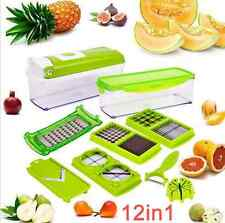 Super Slicer Plus Vegetable Fruit Peeler Dicer Cutter Chopper Nicer Grater 12pcs