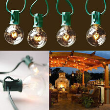 Energy Saving G40 Light Bulb LED String Lights 25 Round Bulbs Outdoor Yard Lamp