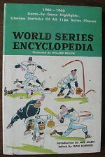 1961 World Series Encyclopedia 1903 to 1960 by Don Schiffer, 256-page paperback