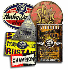 CHOPPER CUSTOM BOBBER  STICKER PACK BY VOODOO STREET™, waterproof vinyl, quality