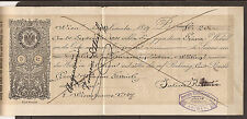 AUSTRIA / ÖSTERREICH / GERMANY. 1890. IMPRINTED 5kr REVENUE ON CHEQUE FROM  A NE