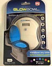 THE ORIGINAL GLOWBOWL MOTION ACTIVATED TOILET NIGHTLIGHT AS SEEN ON TV