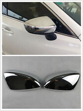 2pcs ABS Chrome Side Mirror Rearview Cover Trim For Mazda 3 Axela 2014 2015 M3