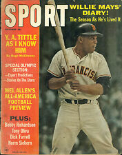 SPORT Magazine October 1964 Willie Mays cover Y.A. Tittle